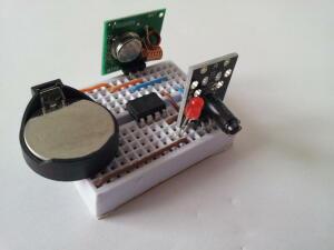Circuit monté sur breadboard